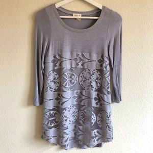 Anthropologie Meadow Rue Lace Front Top